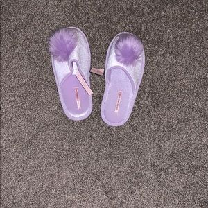 Victoria's Secret Slippers with Pom Poms